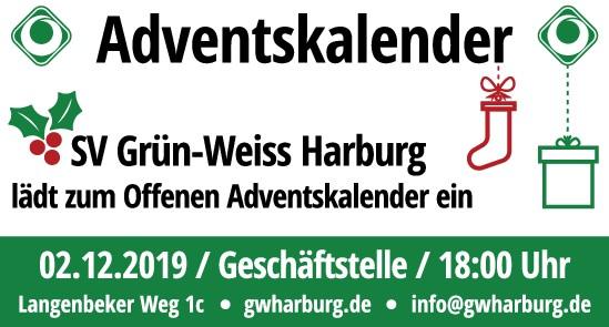 Adventskalender Information Anzeige