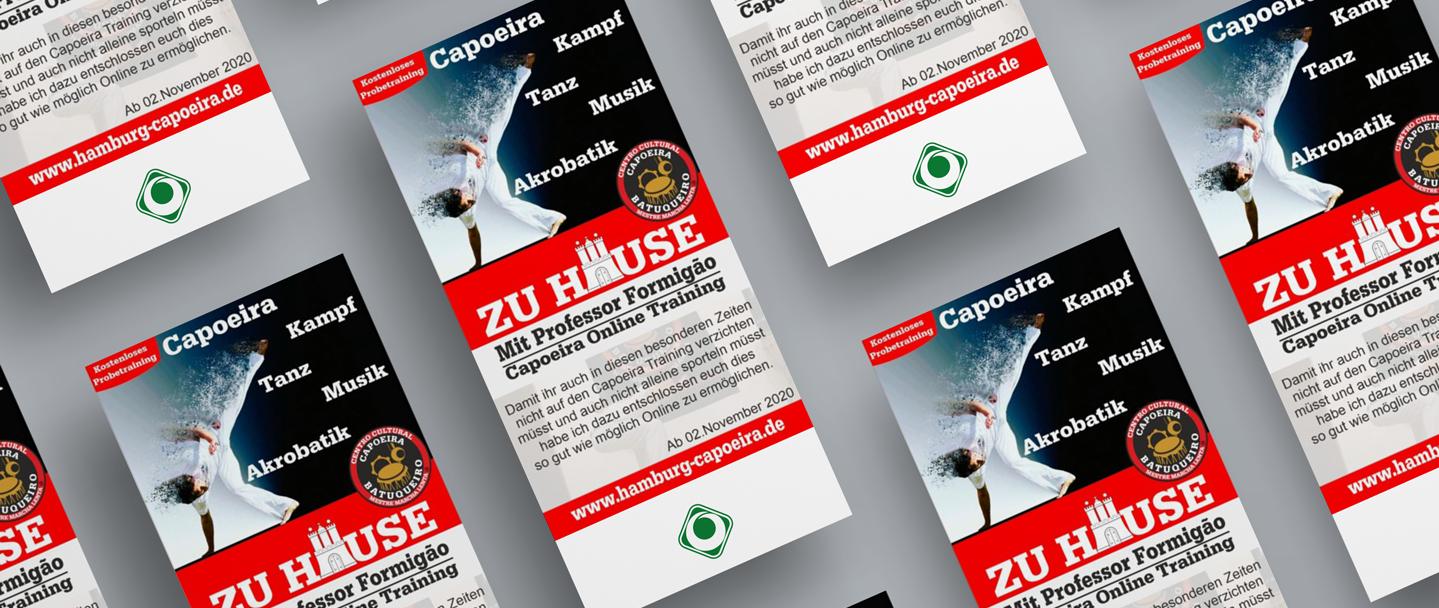 Capoeira Flyer Online Training 2020