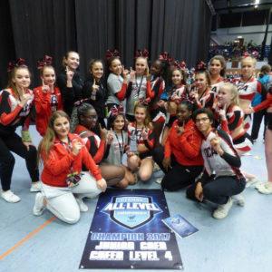 DCA Cheerleader Gruppenfoto