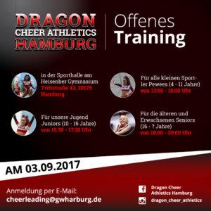 DCA offenes Training Flyer