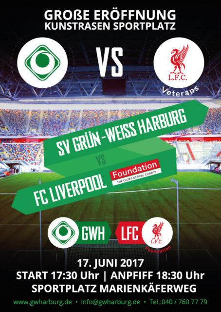 Spielbegegnung Flyer - Liverpool - Grün-Weiss Harburg