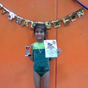 Siegerin Kinderturnen Halloweenpokal Leyla