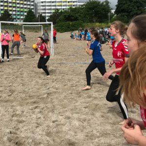 SG Harburg B-Mädels im Spiel